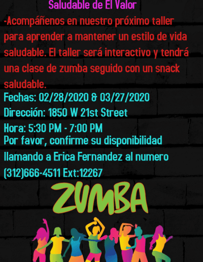 Healthy Nutrition Night Flyers in Spanish for Feb and Mar
