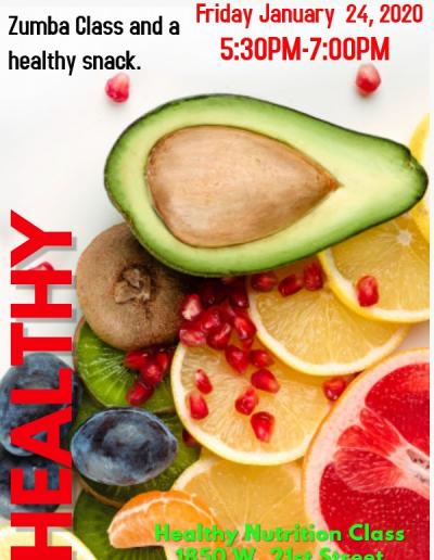 Healthy Nutrtion Night Flyer