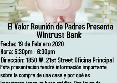 Parents Meeting Wintrust Presenation Spanish