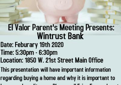Parents Wintrust Presenter Flyer