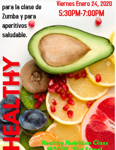 Spanish Version Of healthy nutrition flyer